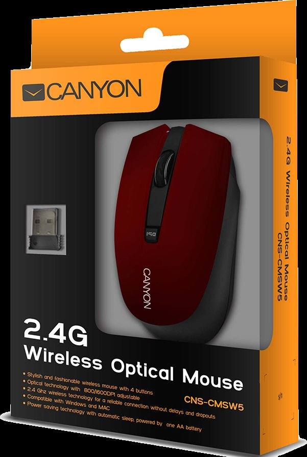 CANYON WL MOUSE CNS-CMSW5 RED