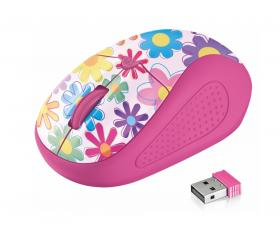 TRUST PRIMO WL MOUSE PINK FLOWERS