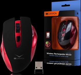 CANYON WL RECHARGEABLE MOUSE CNS-CMSW7 RED