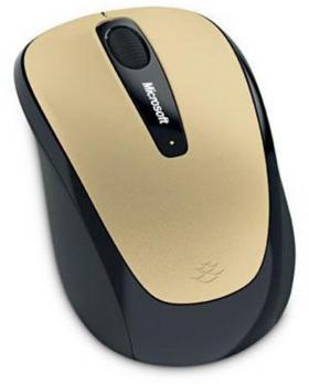 MICROSOFT WIRELESS MOBILE MOUSE 3500 GOLD METAL