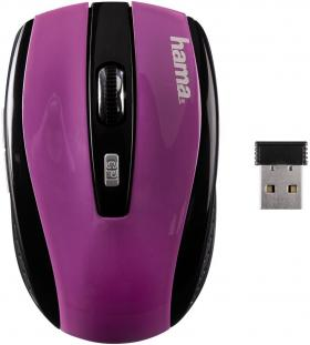 HAMA-134929 WL OPTICAL MOUSE BLACK AM-7600 BLACK/PURPLE