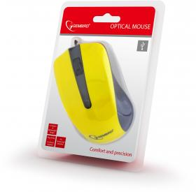 GEMBIRD OPTICAL MOUSE MUS-101 YELLOW