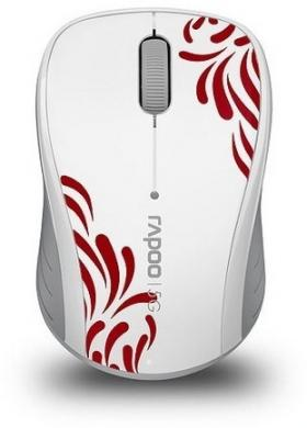 RAPOO 3100P WL OPTICAL MOUSE 5.8GHZ WHITE